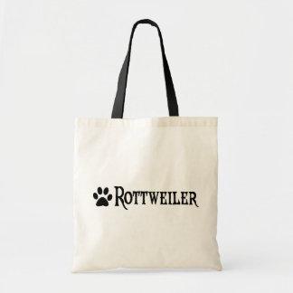 Rottweiler (estilo del pirata con el pawprint) bolsas