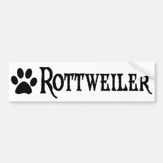 Rottweiler (estilo del pirata con el pawprint) etiqueta de parachoque