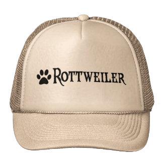 Rottweiler (estilo del pirata con el pawprint) gorra