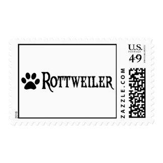 Rottweiler (estilo del pirata con el pawprint) franqueo