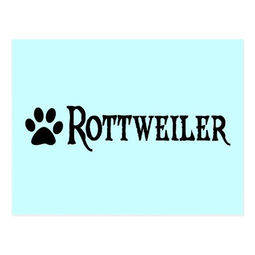 Rottweiler (estilo del pirata con el pawprint) postal