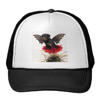 Rottweiler Fairy Dog Ballpark Cap