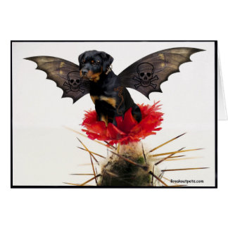 Rottweiler Fairy Dog Notecard