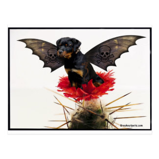 Rottweiler Fairy Dog Postcard