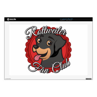 "Rottweiler Fan Club Decals For 17"" Laptops"
