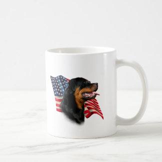 Rottweiler Flag Classic White Coffee Mug