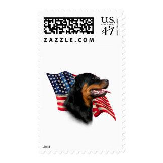 Rottweiler Flag Stamp