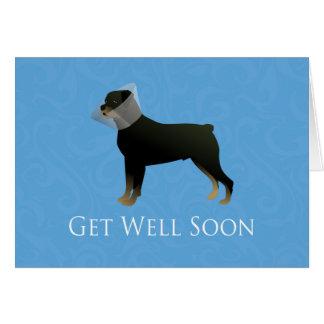 Rottweiler Get Well Soon Design Card