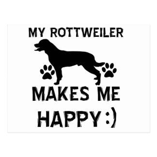 Rottweiler gift items postcard
