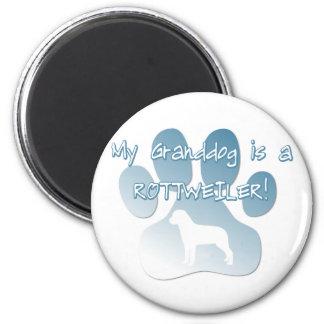 Rottweiler Granddog Imán Redondo 5 Cm