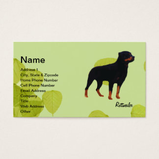 Rottweiler ~ Green Leaves Design Business Card