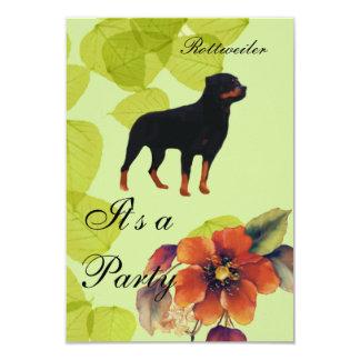 Rottweiler ~ Green Leaves Design Card