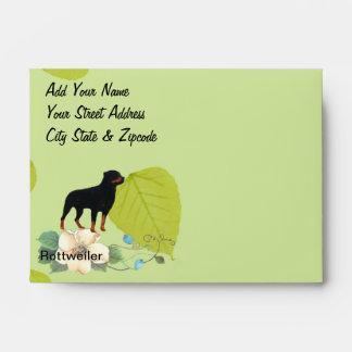Rottweiler ~ Green Leaves Design Envelope