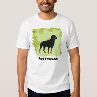 Rottweiler ~ Green Leaves Design T-shirt