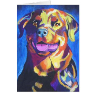rottweiler greeting card