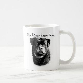 Rottweiler Happy Face Coffee Mug