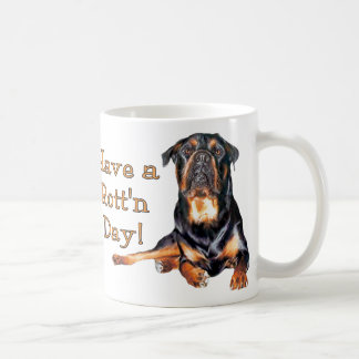 Rottweiler Have A Rotten Day Coffee Mugs