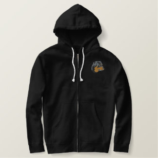 Rottweiler Head Embroidered Hoodie