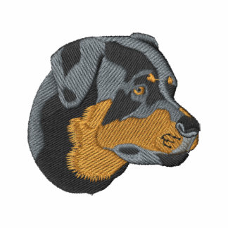 Rottweiler Head Embroidered Hoodies