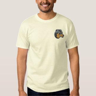Rottweiler Head Embroidered T-Shirt