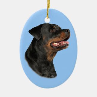 Rottweiler Head Ornament