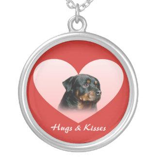 Rottweiler Heart Necklace