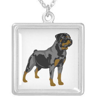 Rottweiler Illustrated Necklace