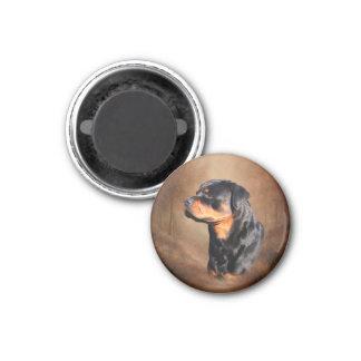 Rottweiler Imán Redondo 3 Cm