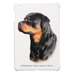Case Savvy iPad Mini Glossy Finish Case with Rottweiler Phone Cases design
