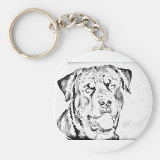 Rottweiler Llavero Personalizado