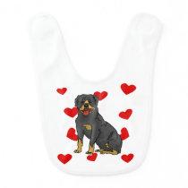 Rottweiler Love Bib