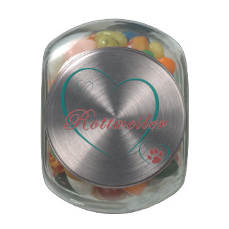 Rottweiler Love Jelly Belly Candy Jar