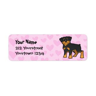 Rottweiler Love Label