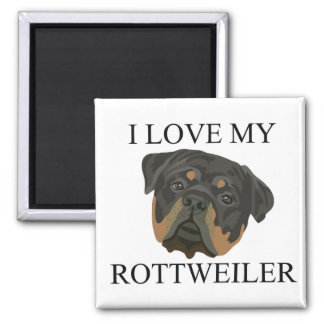 ROTTWEILER Love! 2 Inch Square Magnet