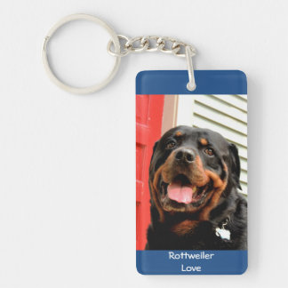 Rottweiler Love Photo Keychain