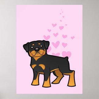 Rottweiler Love Poster