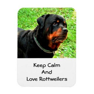 Rottweiler Love Rectangular Photo Magnet