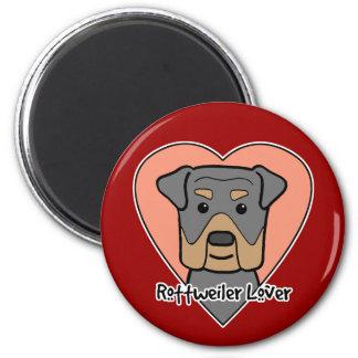 Rottweiler Lover 2 Inch Round Magnet