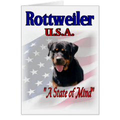 Rottweiler Lovers Gifts card