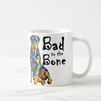 Rottweiler - malo al hueso taza de café