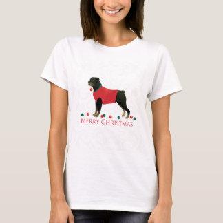 Rottweiler Merry Christmas Design T-Shirt
