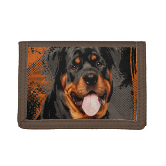Rottweiler  - Metzgerhund Digital Art Trifold Wallet