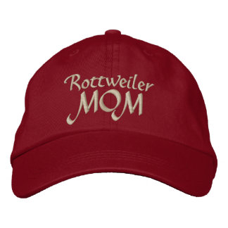 Rottweiler, MOM Embroidered Baseball Hat