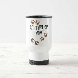 Rottweiler Mom 15 Oz Stainless Steel Travel Mug