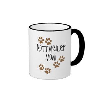 Rottweiler Mom Ringer Coffee Mug