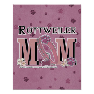 Rottweiler MOM Poster