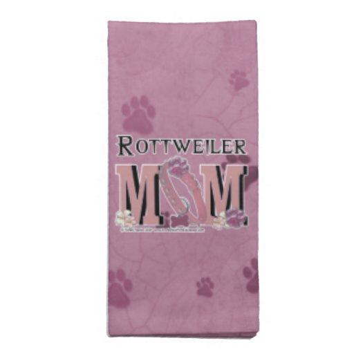 Rottweiler MOM Printed Napkins