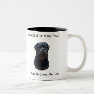 Rottweiler Two-Tone Coffee Mug