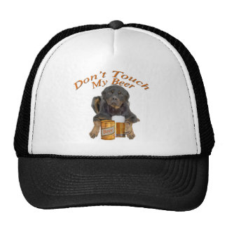 Rottweiler no toca mi cerveza gorro