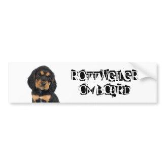 Rottweiler on Board bumpersticker